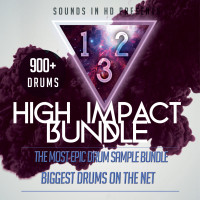 High Impact 1, 2, 3 Bundle — 900+ Drums Limited Time!